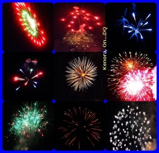 Amazing Firework Pics I took from Winter Carnival Kenora, Ontario Canada