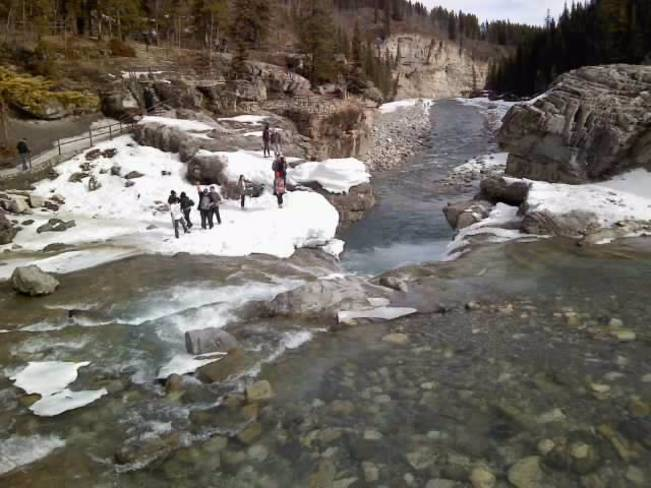 Beautiful Day at Elbow Falls Bragg Creek, Alberta Canada