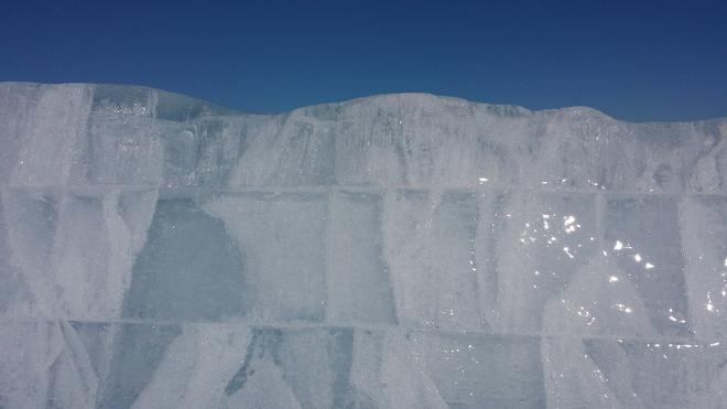 Lake Superior Frozen Layers Duluth, Minnesota United States
