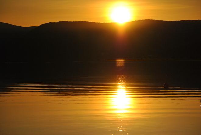 Early spring sunset on the Okanagan South Kelowna, British Columbia Canada