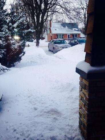 lots of snow Strathroy, Ontario Canada