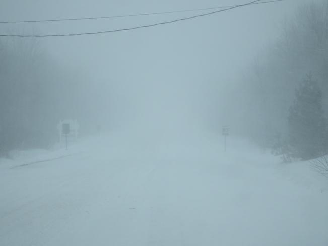 March Snow Storm Long Sault, Ontario Canada