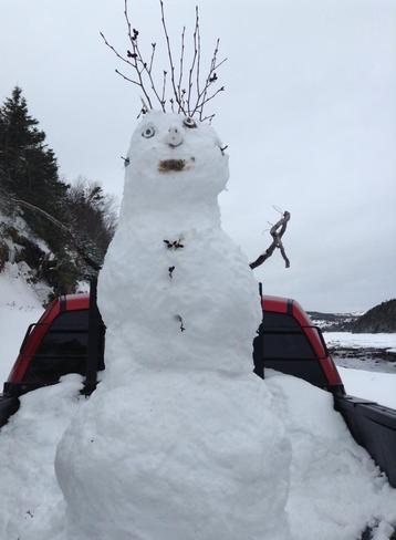our work snowman Clarenville, Newfoundland and Labrador Canada