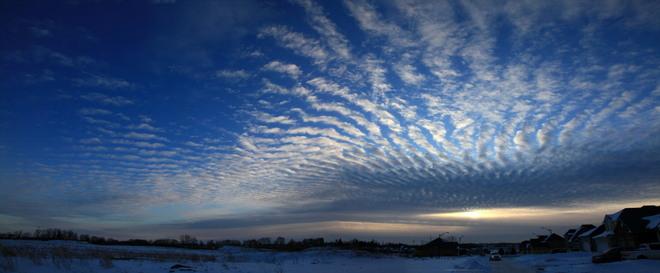 Sunset panorama London, Ontario Canada