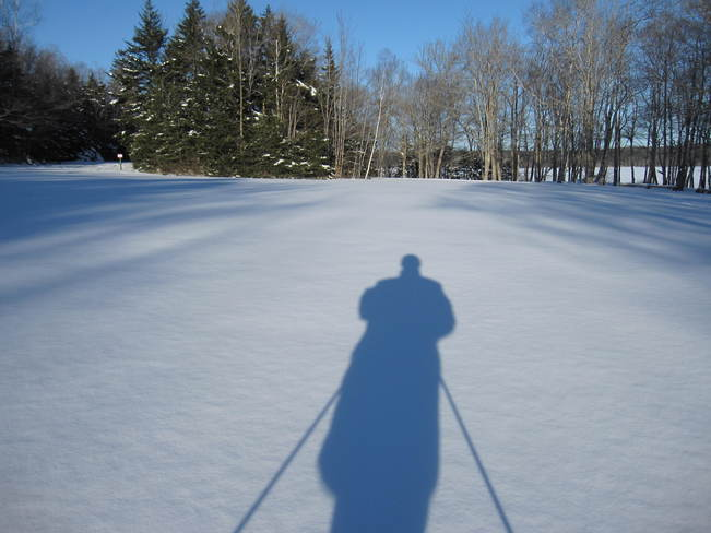 Ski Shadow Yarmouth, Nova Scotia Canada