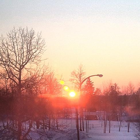 before it got snowy Thompson, Manitoba Canada