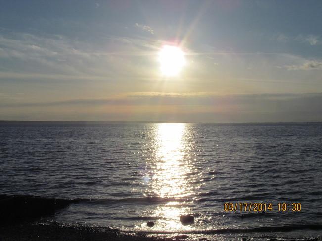Evening reflections Crescent Beach, British Columbia Canada
