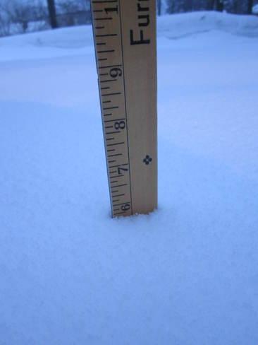 Overnight snowfall Port McNicoll, Ontario Canada