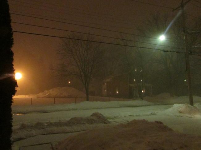 snow and wind Pembroke, Ontario Canada