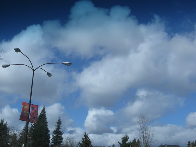 clouds Surrey, British Columbia Canada