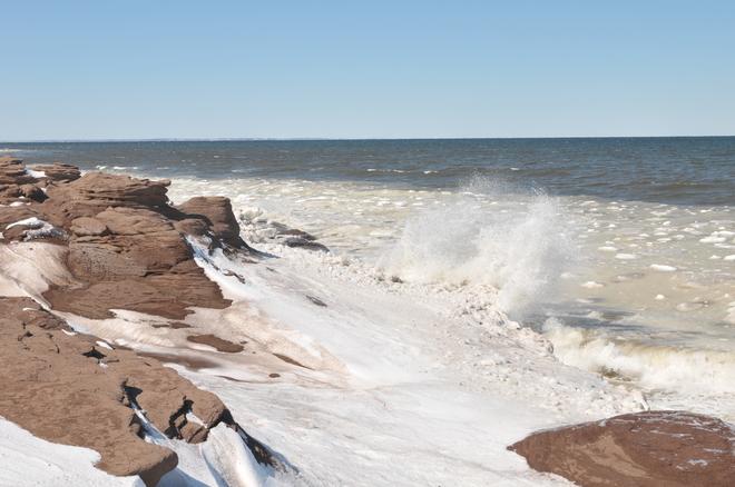 Nice day but very cold!!! Cap-Pele, New Brunswick Canada