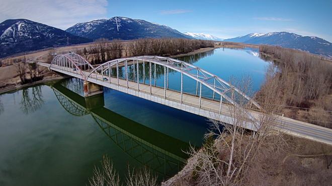 Bridge over the Kootenay River Creston, British Columbia Canada