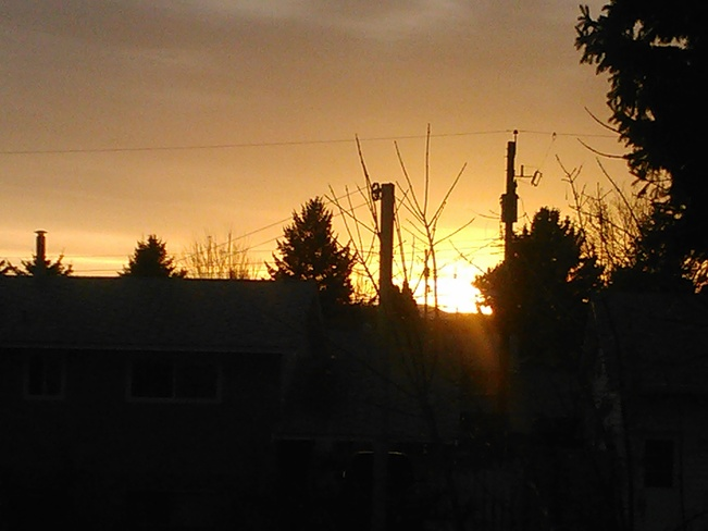 sunset Kamloops, British Columbia Canada