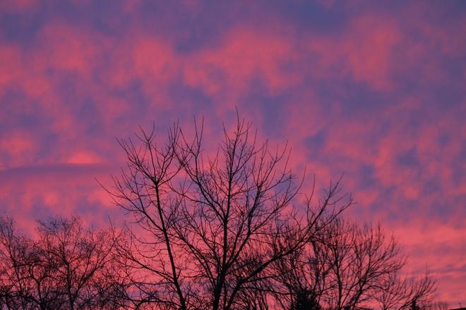 Storm sunset Winnipeg, Manitoba Canada
