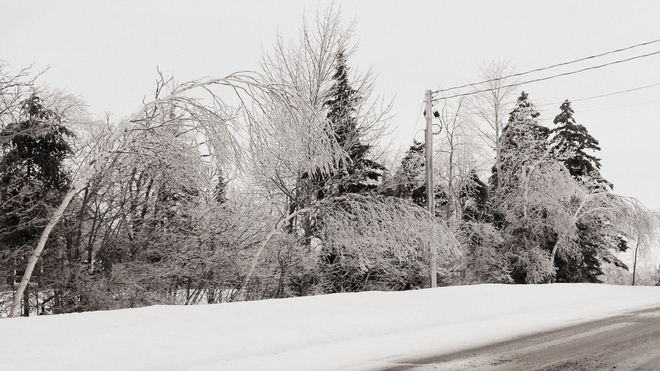 Damage from ice Quispamsis, New Brunswick Canada