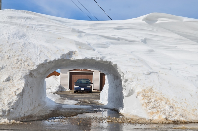 Tunneling out Grande-Anse, New Brunswick Canada