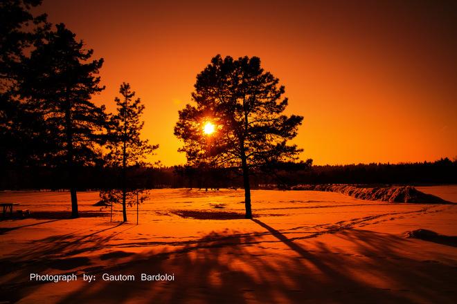 Sunset in Edmonton Edmonton, Alberta Canada