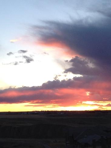 Cloud formation at sunset...... Desert Blume, Alberta Canada