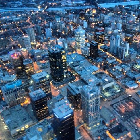 city skyline Edmonton, Alberta Canada
