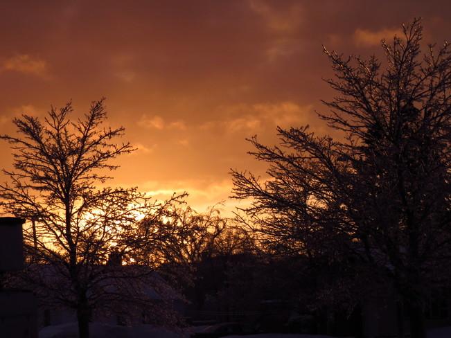 Sunset after ice storm Shediac, New Brunswick Canada