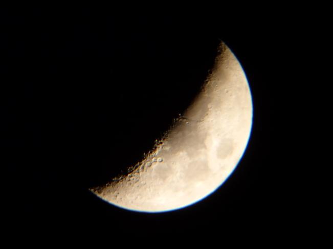 Moon - Waxing Crescent Hamilton, Ontario Canada