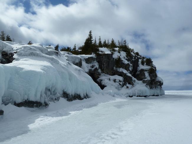 Cliffs at Cyprus Lake Park Tobermory, Ontario Canada