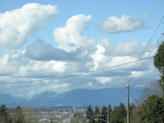 massive clouds... Surrey, British Columbia Canada
