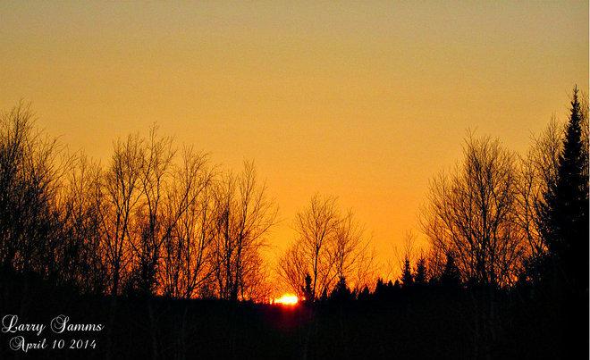 """Green Bay Sunset"" South Brook, Newfoundland and Labrador Canada"