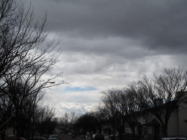 snow clouds Calgary, Alberta Canada