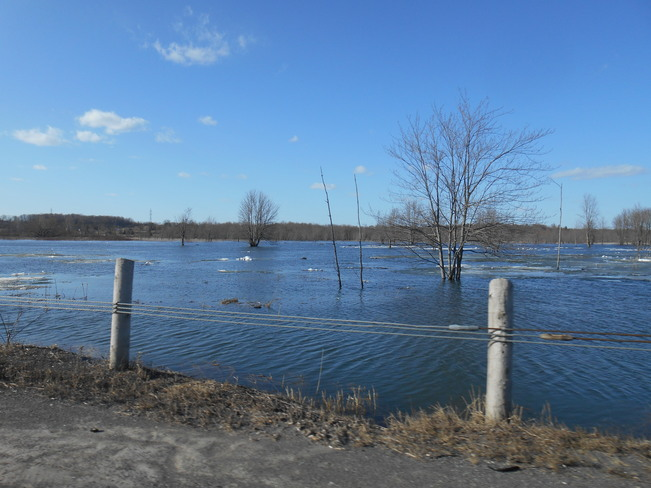 Collins Creek flood Kingston, Ontario Canada