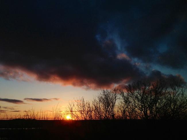 great sunset Kenaston, Saskatchewan Canada