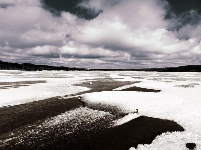 Cold April Squall Unity, Saskatchewan Canada