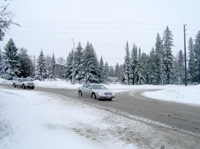 Late spring snowstorm Kirkland Lake, Ontario Canada