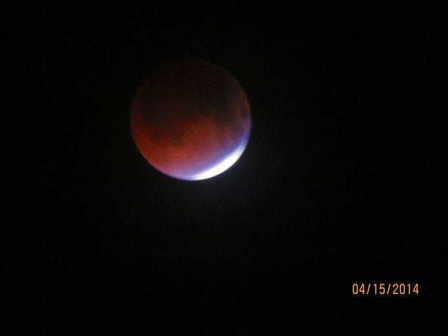 blood moon New Waterford, Nova Scotia Canada