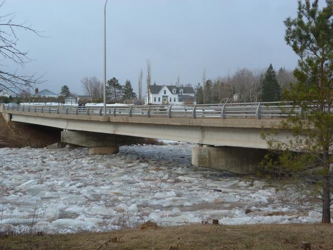 The ice is climbing Tracy, New Brunswick Canada