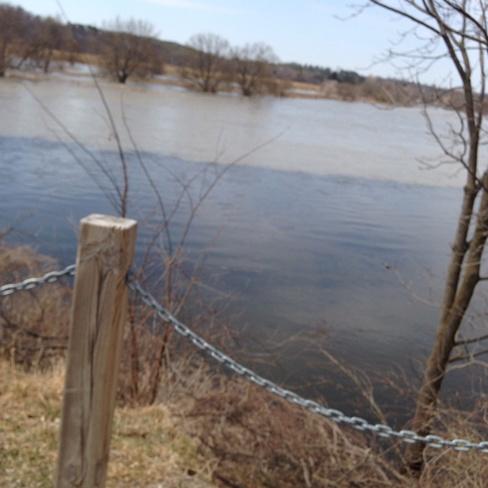 Merging rivers Cambridge, Ontario Canada