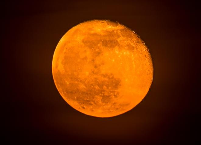 Moon tonight Mississauga, Ontario Canada