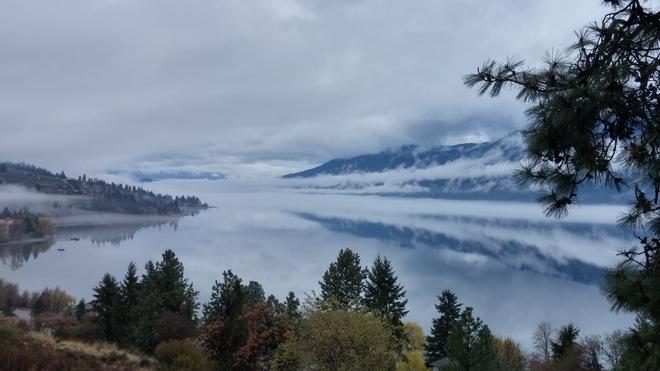 Foggy Lake Okanagan Lake Country, British Columbia Canada