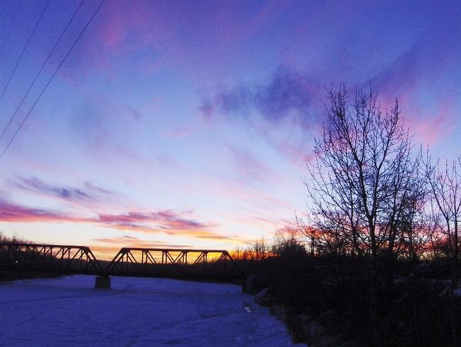 Very Cold Red Deer, Alberta Canada