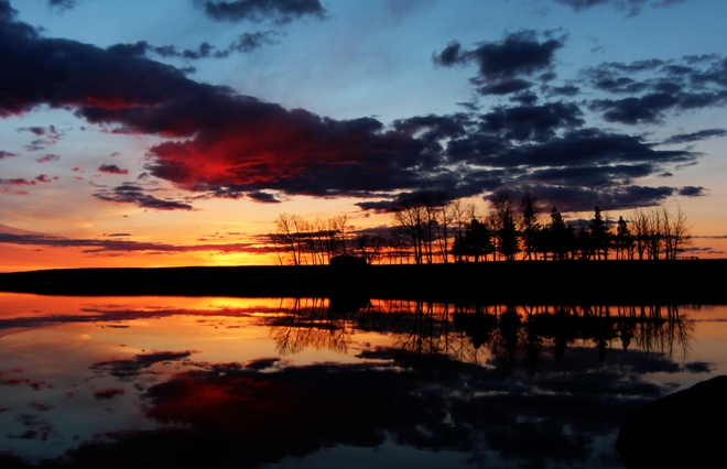 sunset Brooks, Alberta Canada