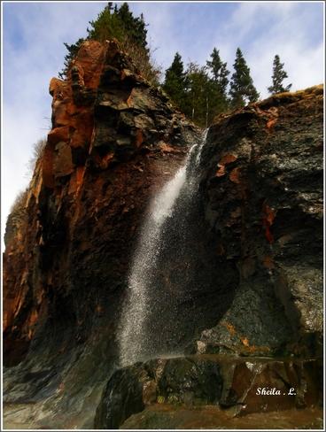 Spring Waterfall Canning, Nova Scotia Canada