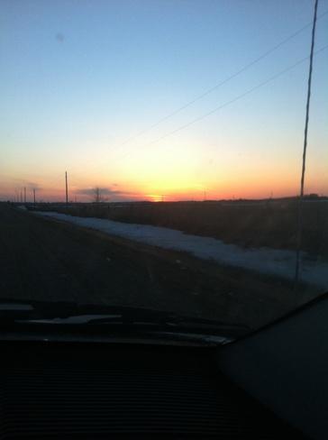 sunset Brandon, Manitoba Canada