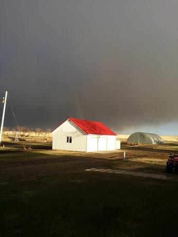 Rainbow on the Farm Vulcan, Alberta Canada
