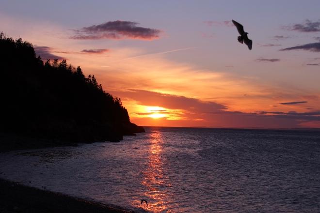 May 1st Sunset. Placentia, Newfoundland and Labrador Canada