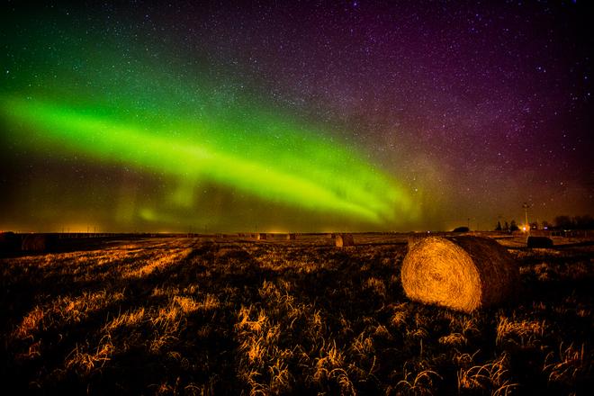 Night Rainbow - Aurora Borealis Calgary, Alberta Canada