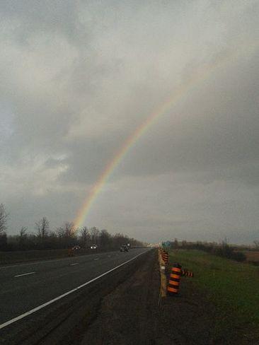 Rainbow on the way home Belleville, Ontario Canada