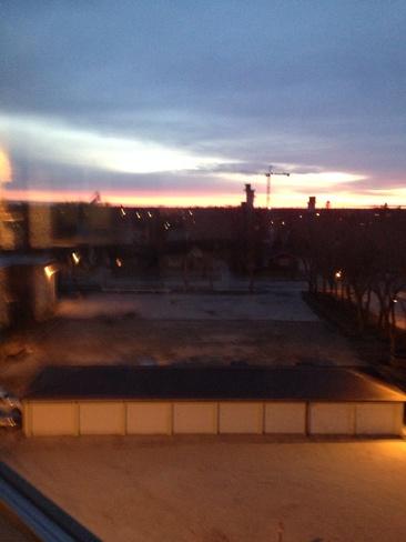sun rising Steinbach, Manitoba Canada