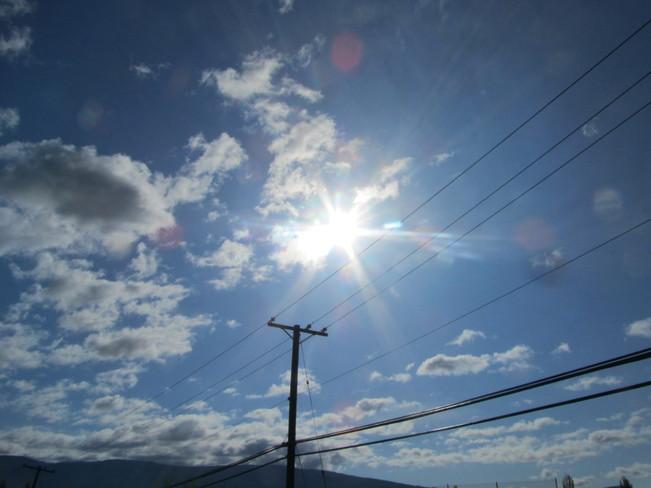 'Power'ful sunshine Vernon, British Columbia Canada