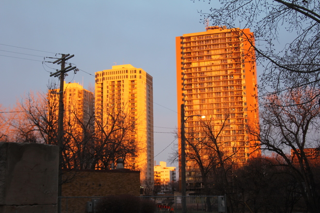 Sunset on the Assiniboine Winnipeg, Manitoba Canada