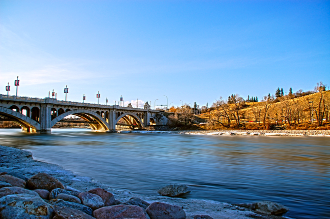Center Street Bridge Calgary, Alberta Canada